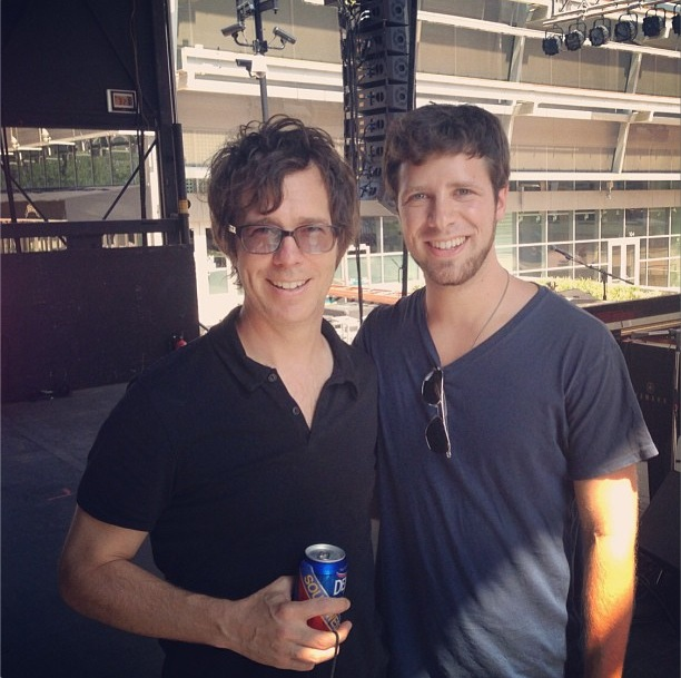 Ben Folds with Tim Halperin at Kidd Kraddick's public memorial.