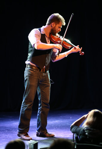 Johnny Gandelsman making his rescheduled New York recital debut on solo violin on Monday at Le Poisson Rouge in Greenwich Village.